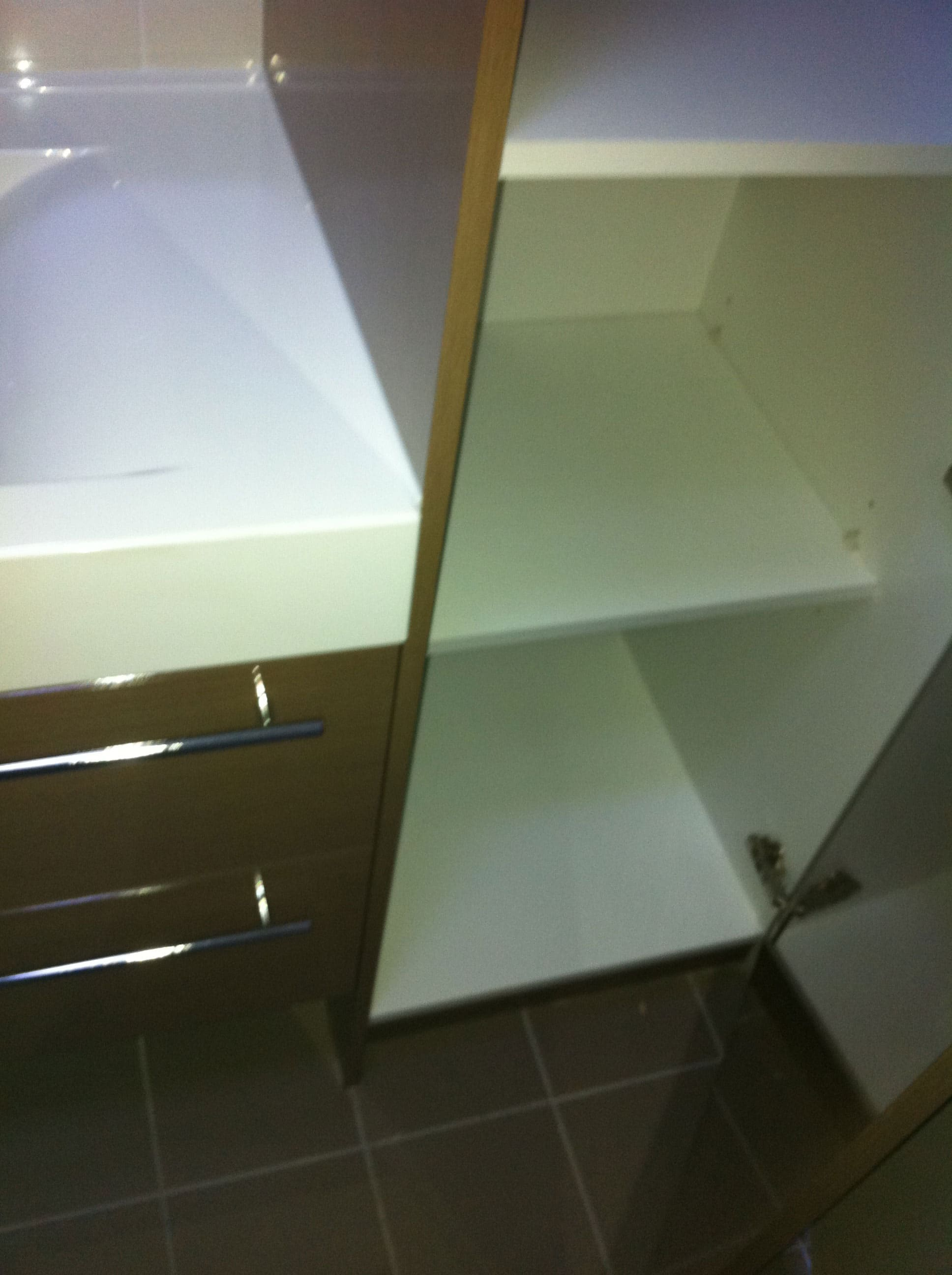 Upgraded Bathroom Joiner Cupboards