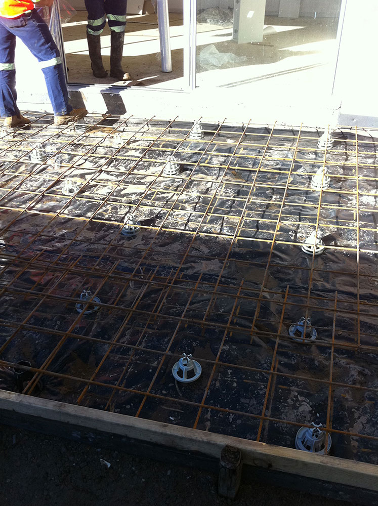 Concrete Driveway Consist Of Wpc & F82 Mesh Before Pouring
