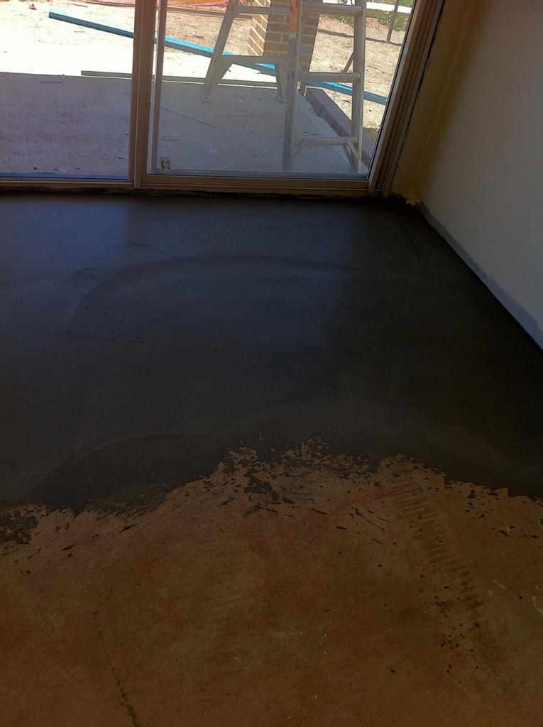 Uneven Concret Surface Primed For Floor Levelling Application