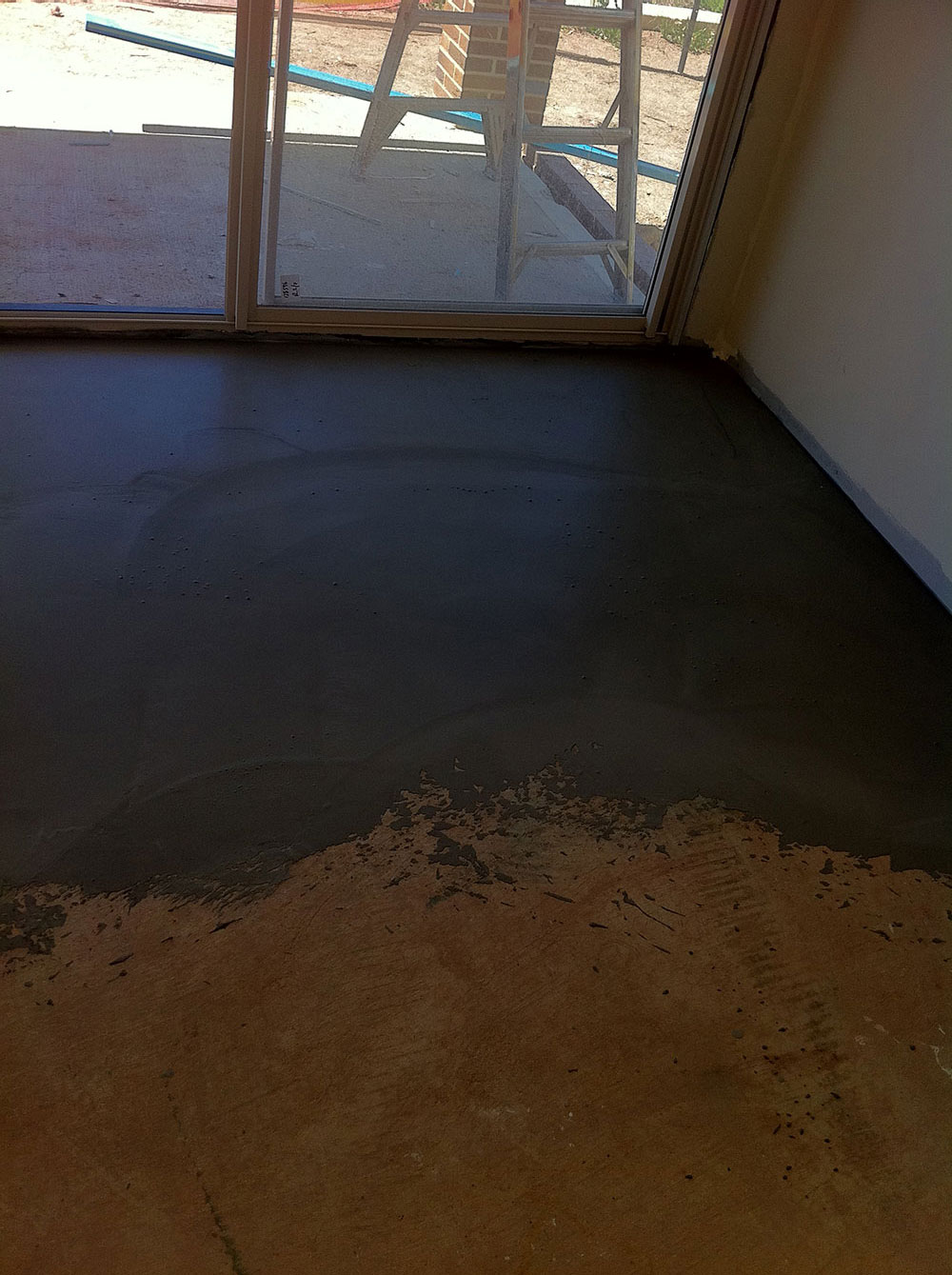 Uneven Concret Surface Primed For Floor Levelling Application
