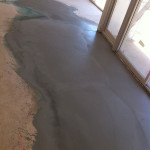 K 15 Floor Levelling Compound Applied to Concrete Surface before Laying of Carpet