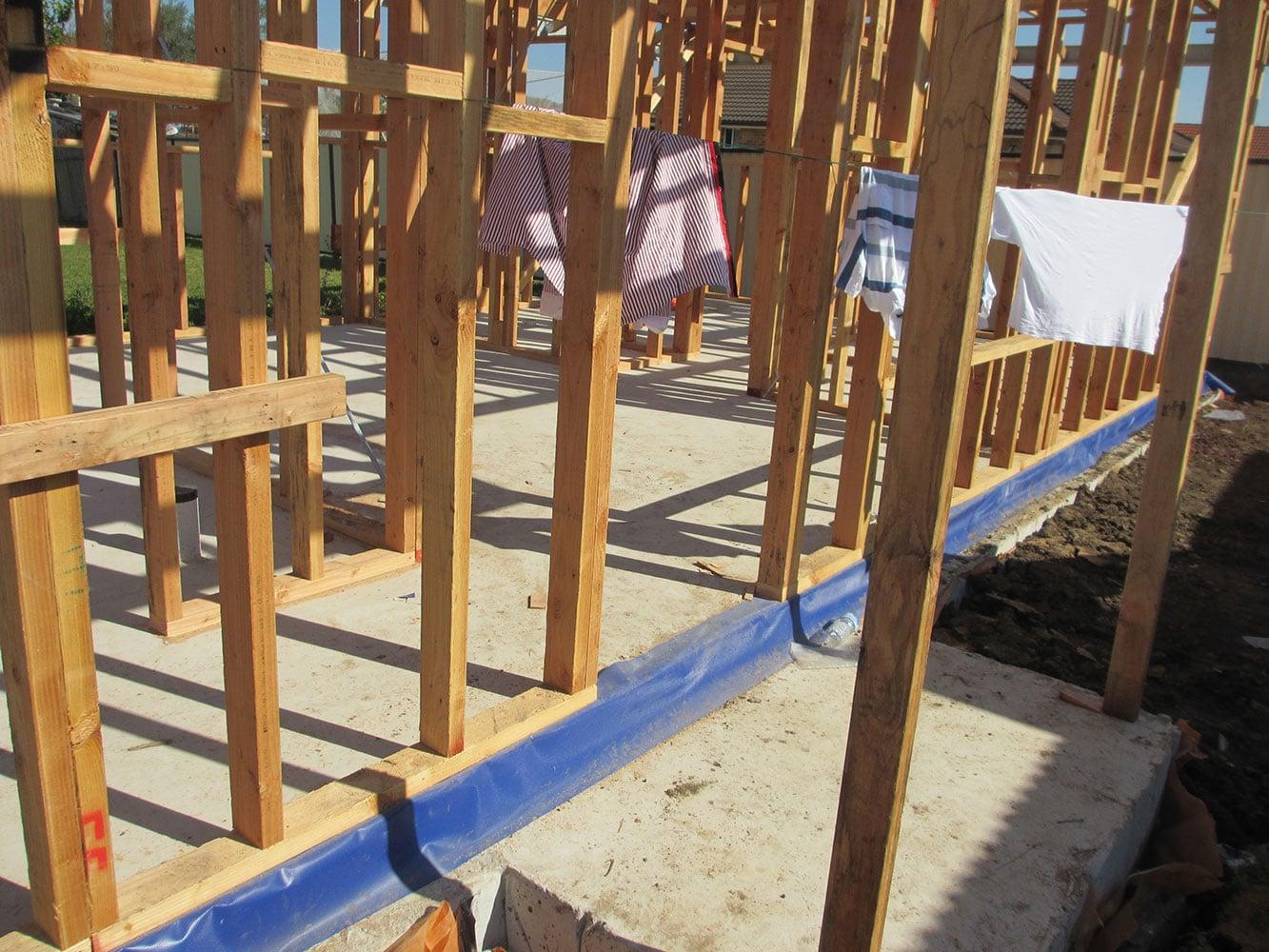 Recessed Concrete porch area As Per BCA. Size 1.4 x 1m