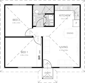 Penrith Granny Flat Floor Plan