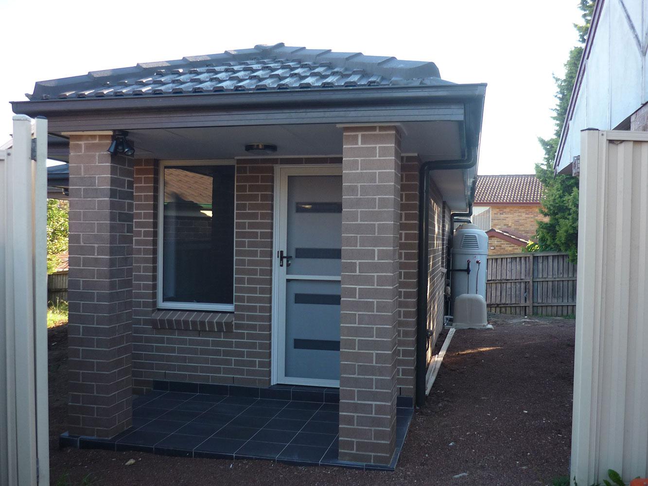 Brick granny flat external 1.3