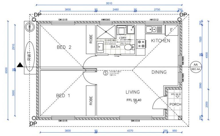 granny-flat-builders-forestville-floor-plan