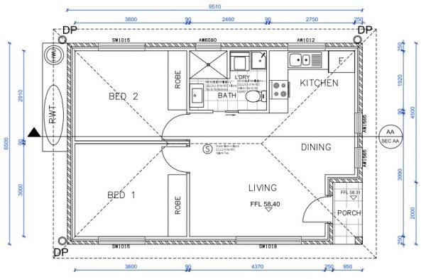 granny-flat-builders-pymble-floor plan