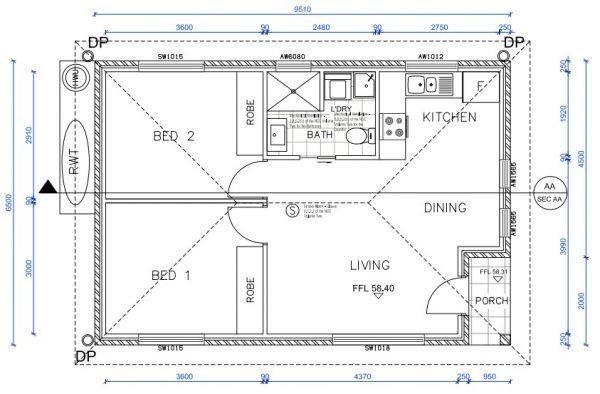 granny-flat-builders-roseville-floor plan