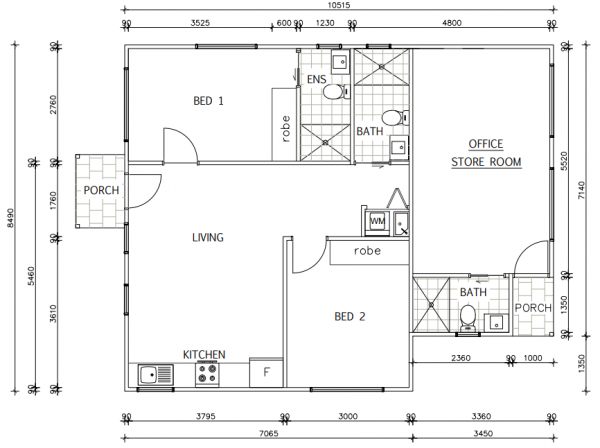 granny-flat-builders-st-ives-floor-plan